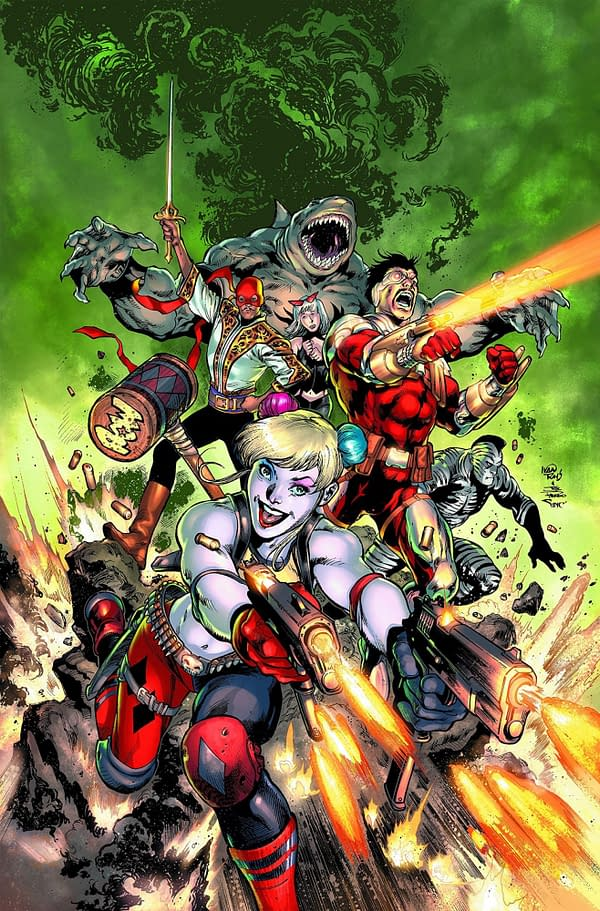 After all this time, we finally know Rocksteady Games is working on a Suicide Squad title. Courtesy of DC Comics.