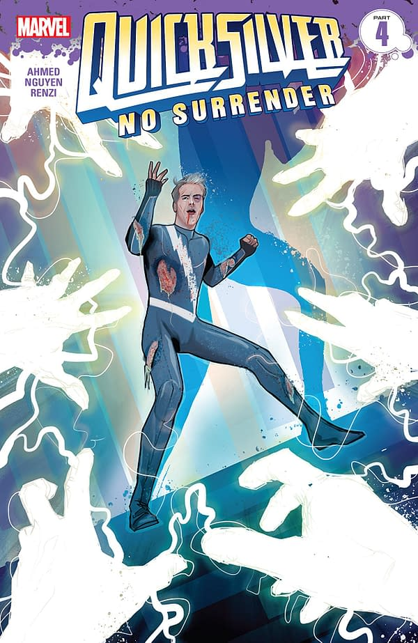 Quicksilver: No Surrender #4 cover by Martin Simmonds