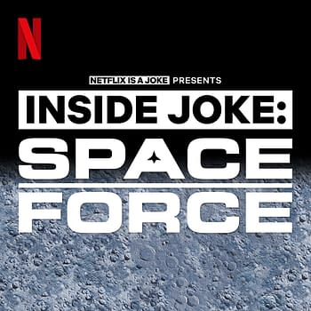 Here's a look at the logo for Inside Joke: Space Force podcast, courtesy of Netflix.