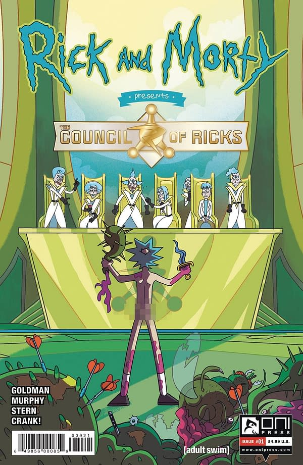 Rick & Morty Present The Council Of Ricks #1 Cover B