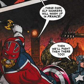 Captain Britain Calls Elves Wankers In Todays The War Of The Realms #5 From Marvel