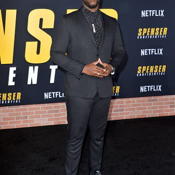 "Winston Duke at the world premiere of ""Spenser Confidential"" at the Regency Village Theatre"