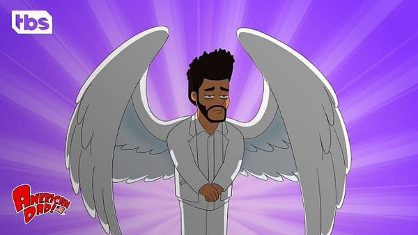 The Weeknd's secret revealed on American Dad, courtesy of TBS.