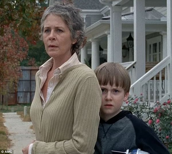 Carol and Sam on The Walking Dead, courtesy of AMC.