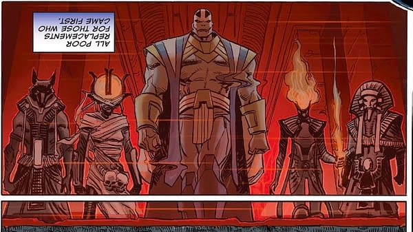 One More Time - Crunching Mister Sinister's Gossip Column in Powers Of X #4