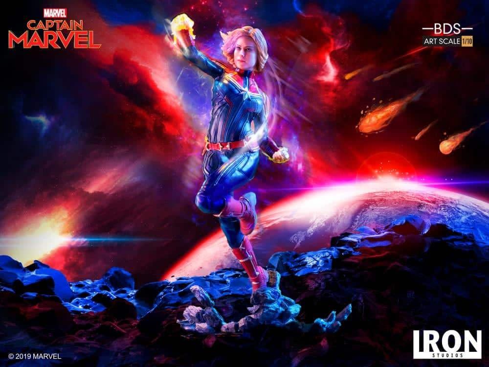 Captain Marvel Iron Studios Statue 7