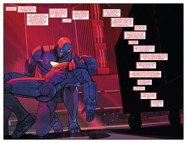 The Invincible Iron Man #600 art by Alex Maleev