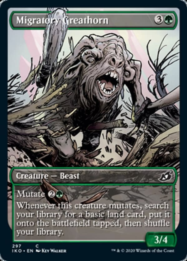 Migratory Greathorn, a new card from the Ikoria: Lair of Behemoths set for Magic: The Gathering.