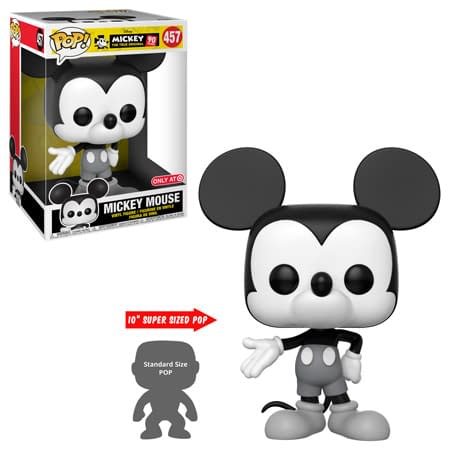 FUnko Disney 10 inch Black and White Mickey Pop