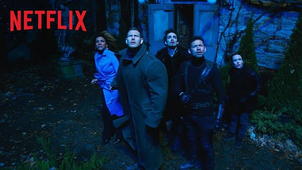 The Hargreeves family reunites for The Umbrella Academy, courtesy of Netflix.