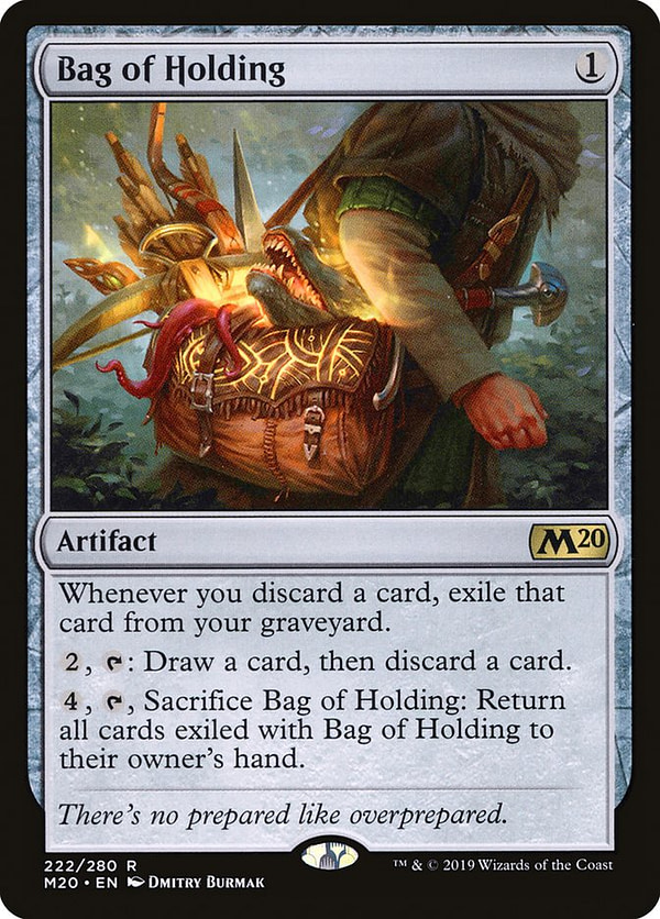 Bag of Holding, une carte du Core Set 2020 pour Magic: The Gathering.