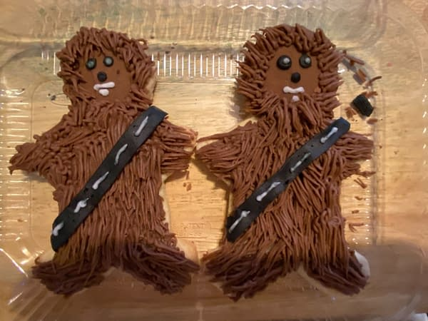 A picture of the Star Wars Wookie Cookies. Photo Credit: Baltimore Lauren.