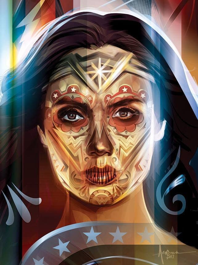 Justice League: Day Of The Dead Poster by Orlando Arocena - Wonder Woman