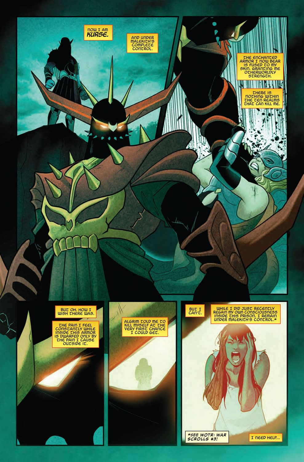 Mixed Messages from Kurse in Spider-Man and the League of Realms #3