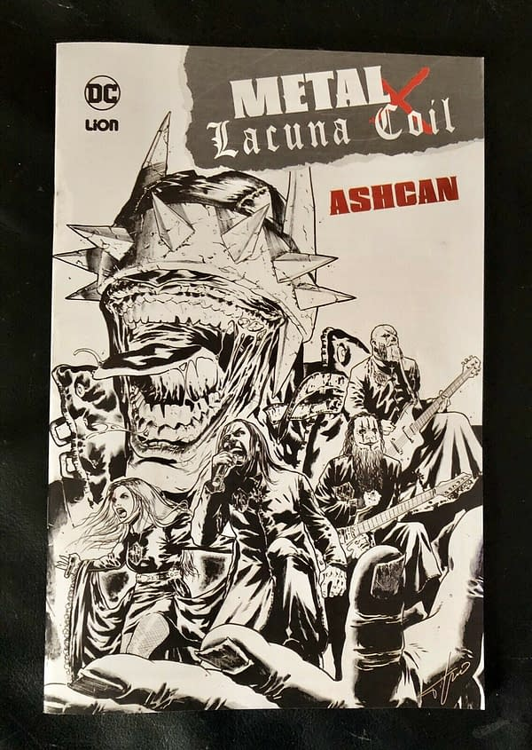 Batman Performs With Lacuna Coil On the Stage and In the Comics