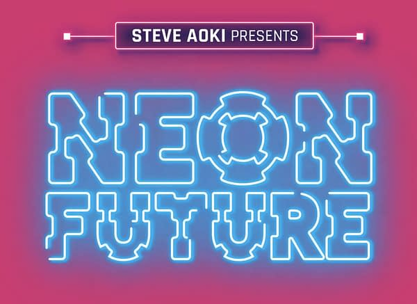 The logo to Neon Future, the new Steve Aoki comic. Credit: Webtoon.