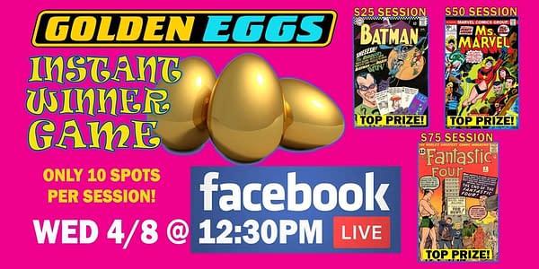 Golden Apple Comics offers golden eggs.