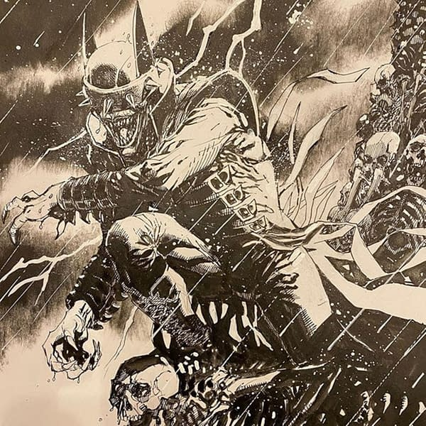 Jim Lee draws the Batman Who Laughs for charity.