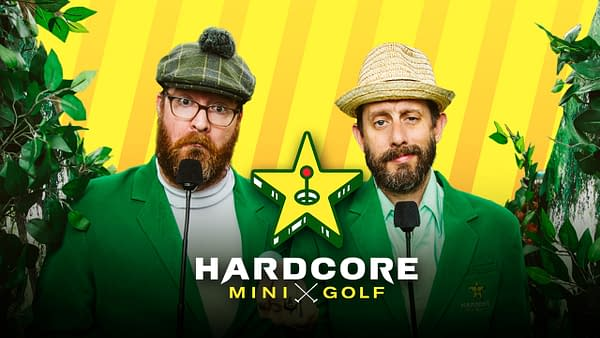 Geoff Ramsey and Jack Pattillo are ready for Hardcore Mini Golf, courtesy of Rooster Teeth.