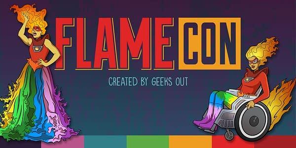 Flame Con Logo