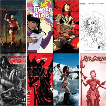 Final Order Cut-Off Covers for Buffy, Faithless, Finger Guns, Heavy, The Boys, Vampirella, Red Sonja