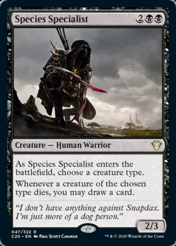 Species Specialist, a card from the Commander 2020 set for Magic: The Gathering.