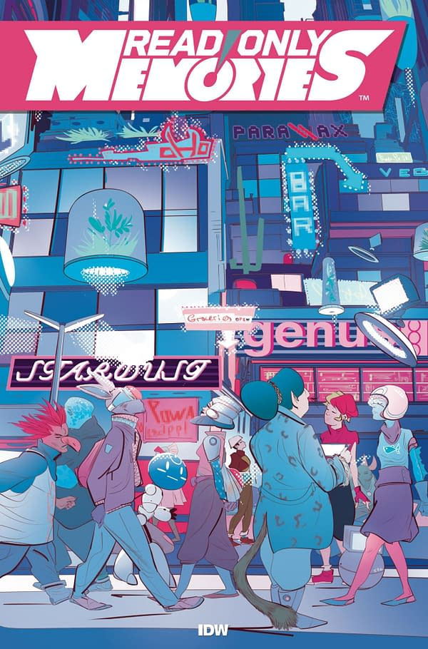 "Sina Grace and Stefano Simeone Launch ""Read Only Memories"" Comic From IDW in December - No Need To Wait Until 2064"