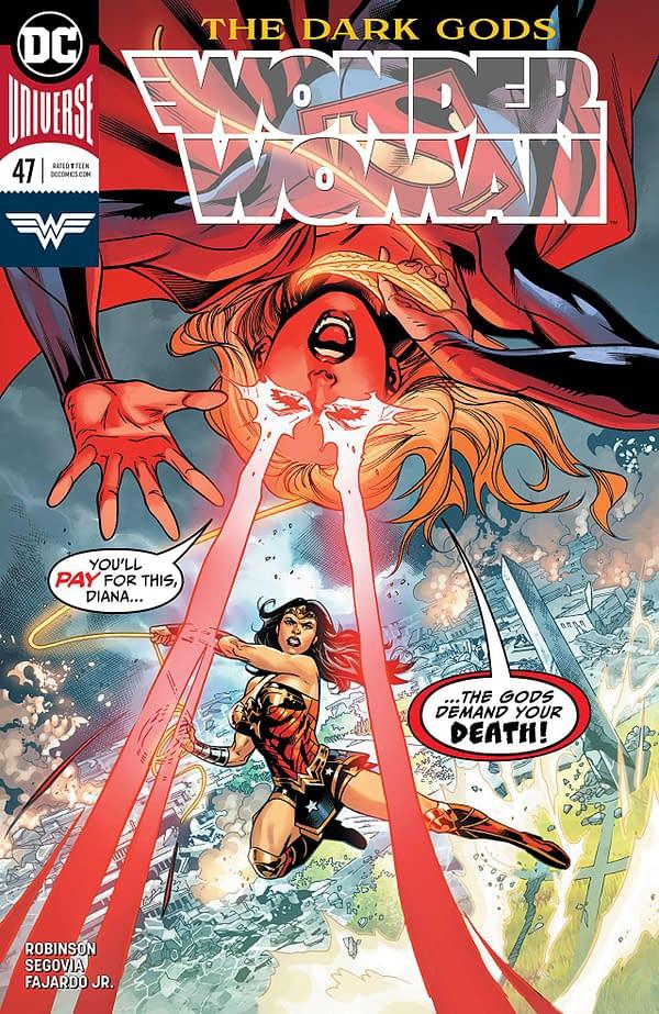 Wonder Woman #47 cover by Emanuela Lupacchino, Ray McCarthy, and Romulo Fajardo Jr.