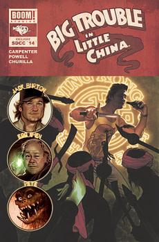 SIGNED ERIC POWELL BIG TROUBLE IN LITTLE CHINA #1 JACK BURTON WESTON VARIANT