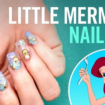 Little Mermaid nail art