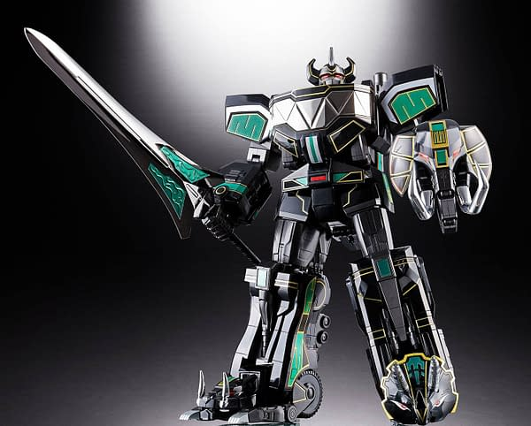 Bandai Tamashii Nations Soul of Chogokin GX-72B Megazord Black Version SDCC