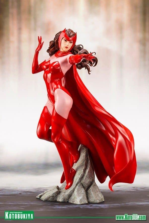 Kotobukiya Avengers Scarlet Witch Statue 2