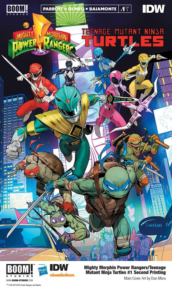 Mighty Morphin Power Rangers/Teenage Mutant Ninja Turtles #1 Fast-Tracked to Third Printing