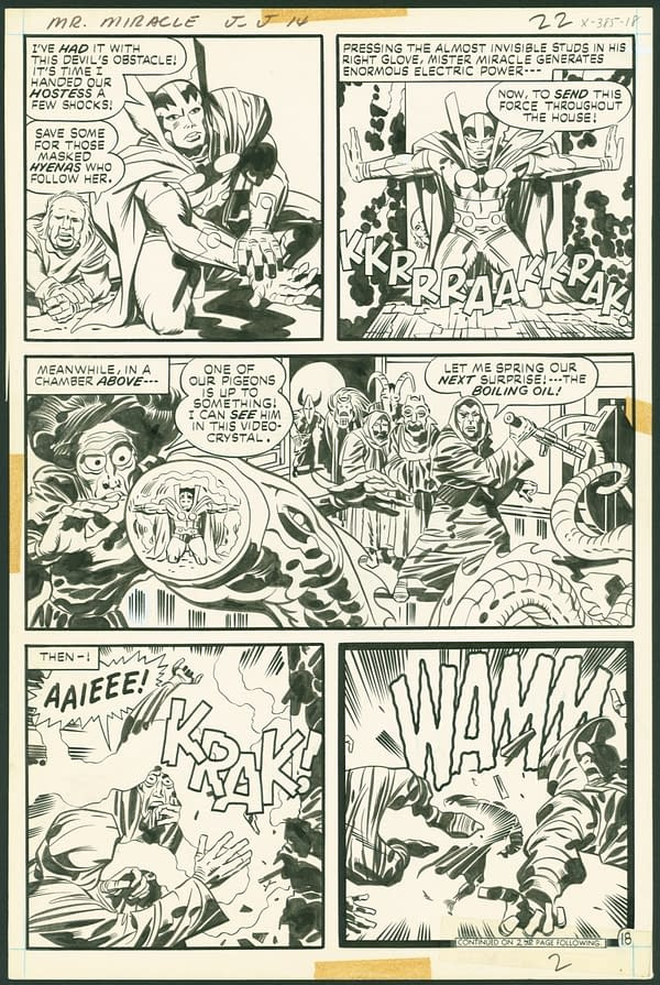 Mister Miracle #14 Page 18 by Jack Kirby. Credit ComicConnect