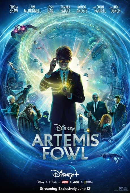 Artemis Fowl will begin streaming on Disney+ on June 12th.