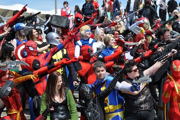 Marvel Comics cosplayers at MCM London 2013