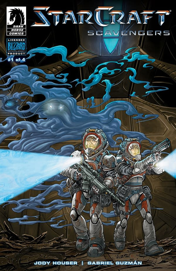 Starcraft: Scavengers #1 cover by Gabriel Guzman and Michael Atiyeh
