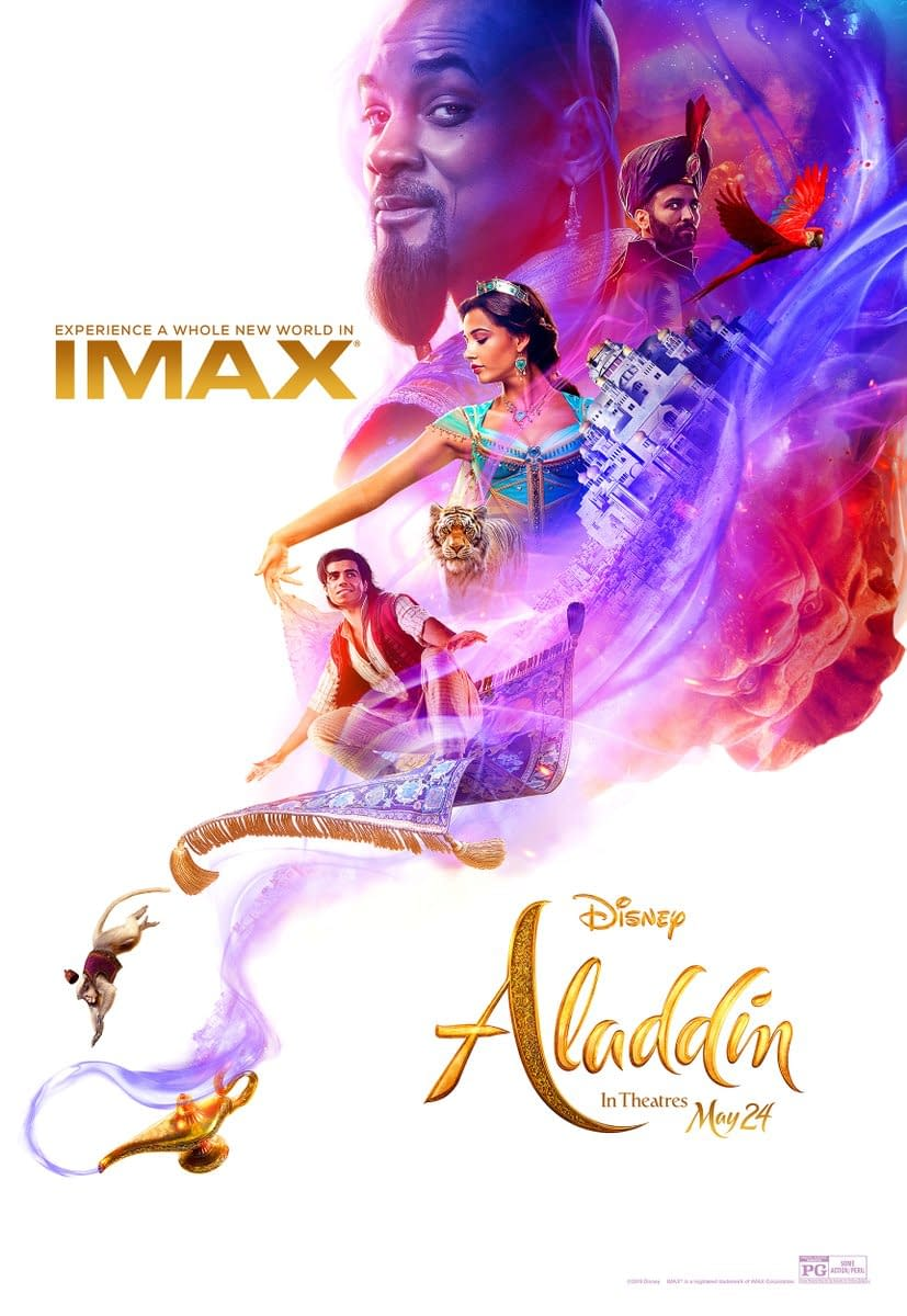 Aladdin Projected to Open at $70-$90M Plus 3 TV Spot and a New Poster