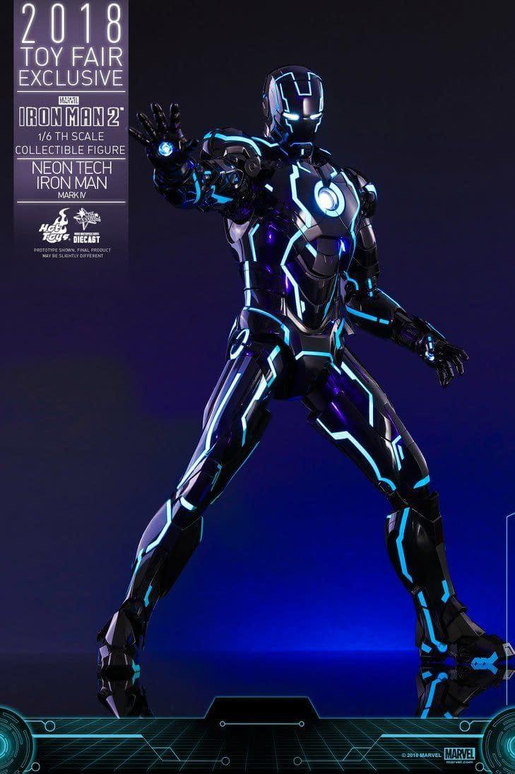 Hot Toys Neon Armor Tech Iron Man 8