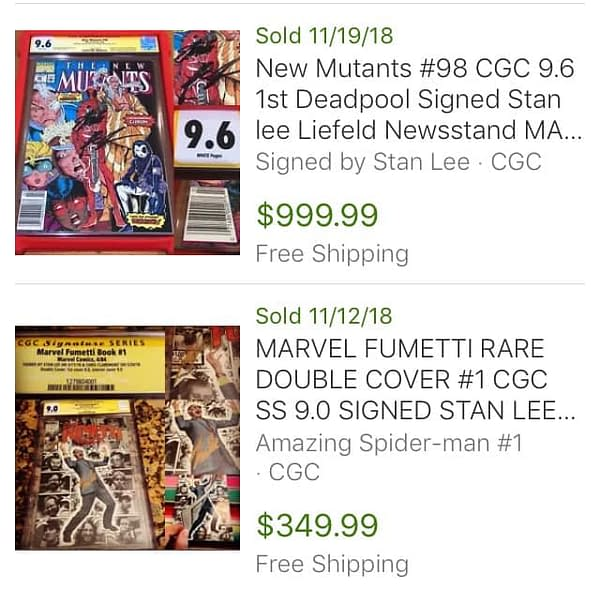 How Much Would You Pay For a Stan Lee Signed Comic?