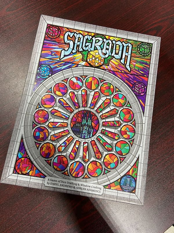 Sagrada -- a colorful and fun dice drafting game.