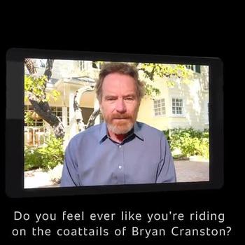 "A ""fan"" has a question during the Better Call Saul marathon (Image: AMC)."