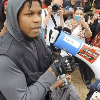 Star Wars Actor John Boyega Becomes Emotional At London BLM Rally