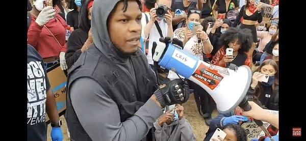 Star Wars Actor John Boyega Becomes Emotional At London BLM Rally