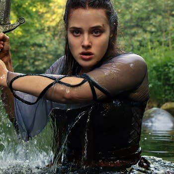 Katherine Langford stars in Cursed, courtesy of Netflix.