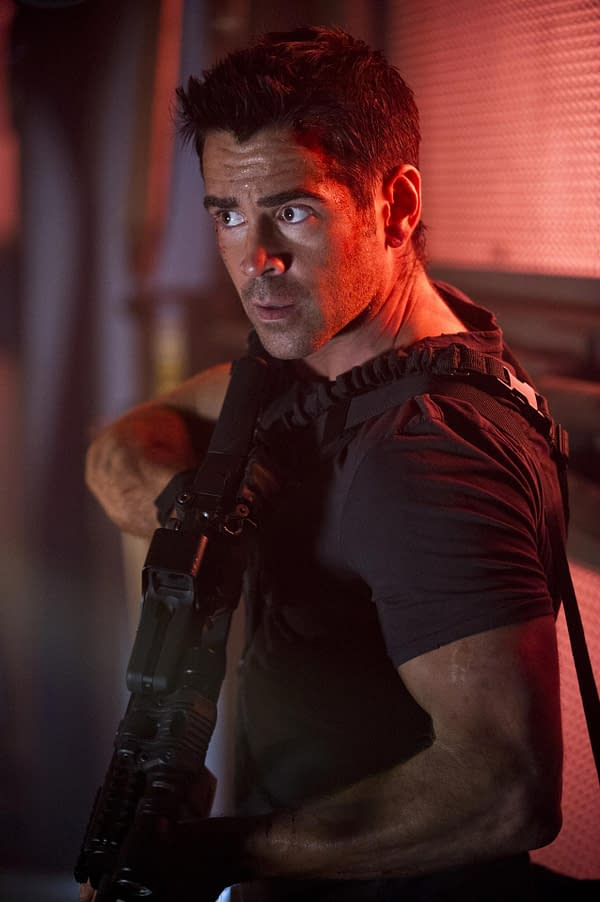 Colin Farrell in Total Recall (2012). Image courtsy of Sony Pictures