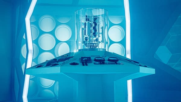 BBC Releases Doctor Who, Blake's Seven Set Shots for Zoom Backgrounds.