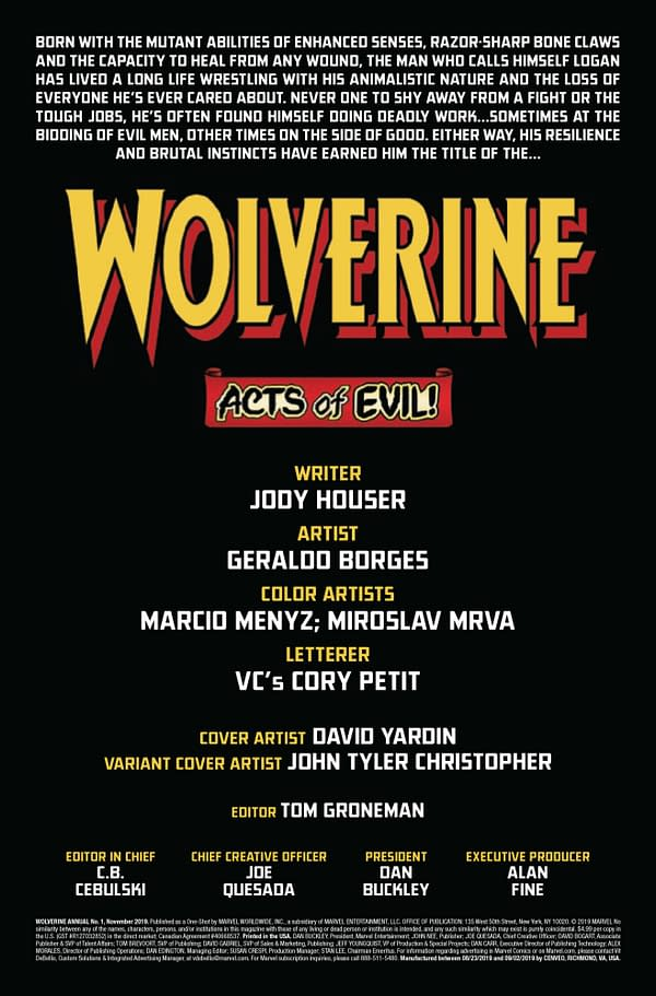 Wolverine Annual #1 [Preview]