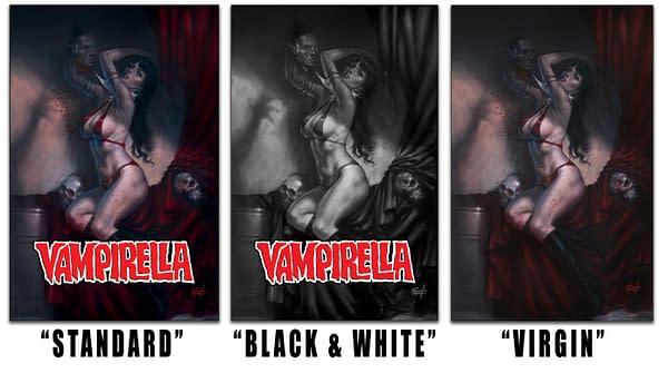 Lucio Parrillo Bulks Up to Paints Vampirella Cover.