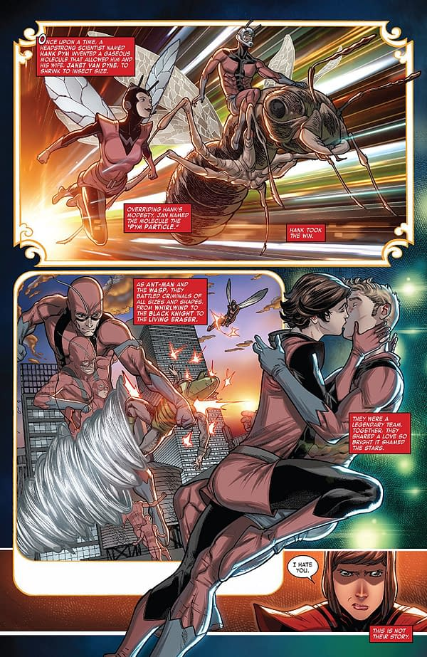 Ant-Man and the Wasp #1 art by Javier Garron and Israel Silva